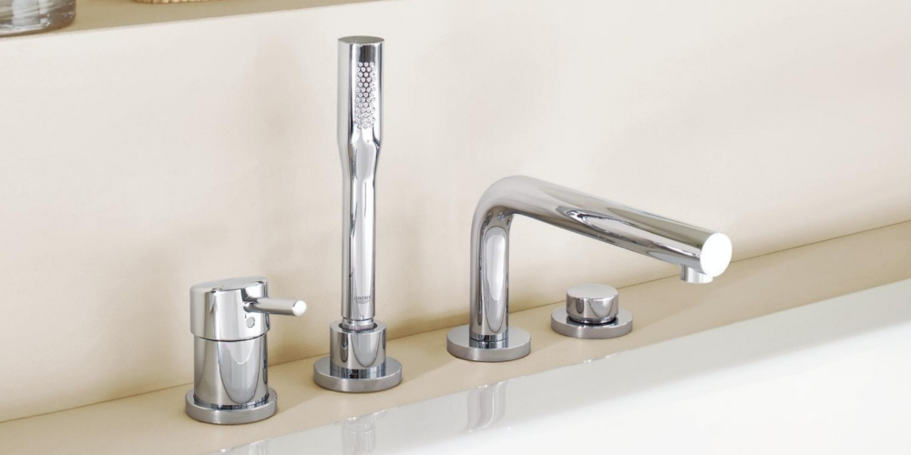 Grohe Concetto bathtub faucet stand mounting