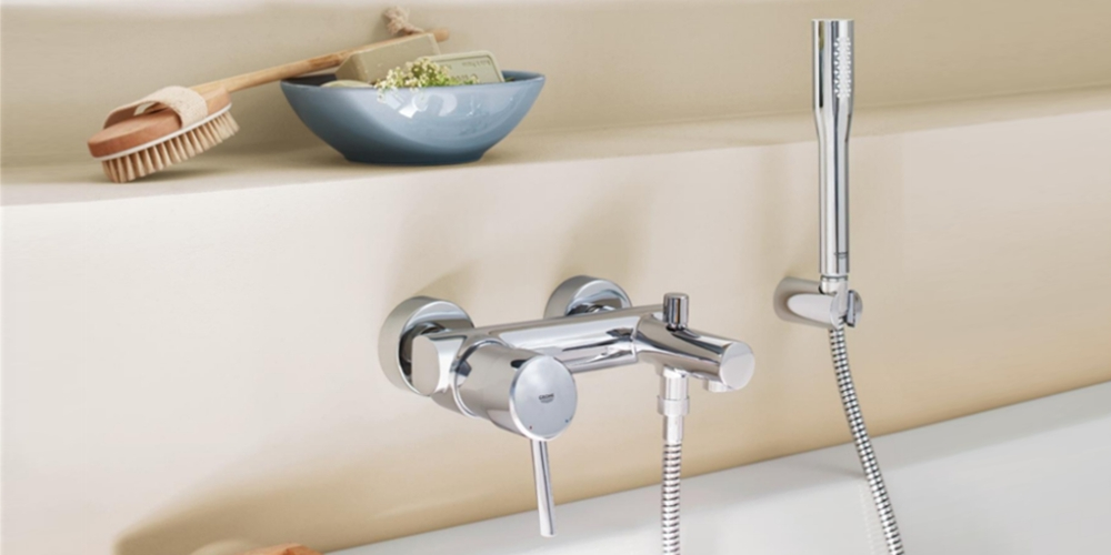 Grohe Concetto bathtub faucet wall mounting